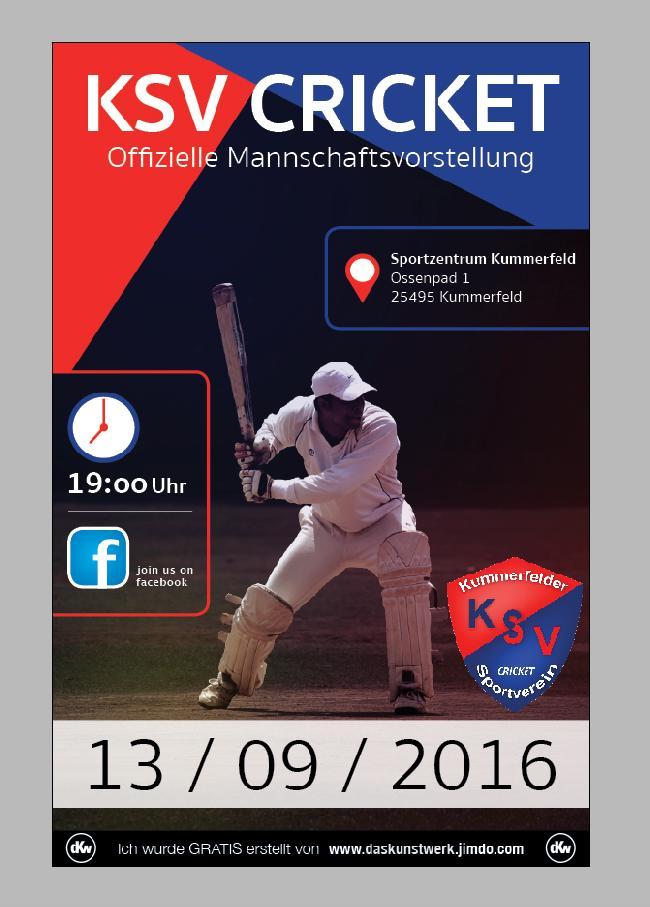 Cricket Mannschaftsvorstellung