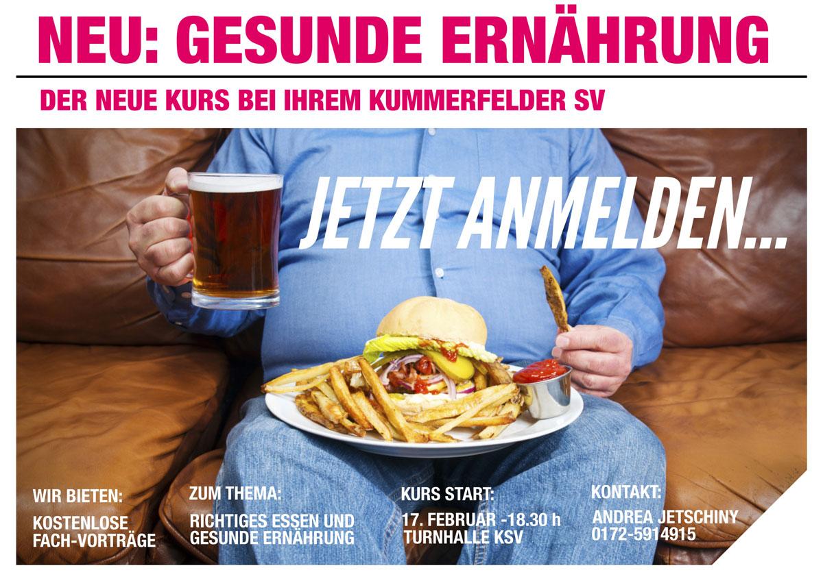 Plakat Gesunde Ernährung