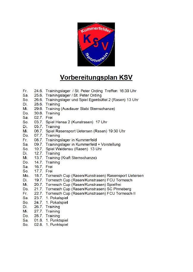 Vorbereitungsplan KSV 2016